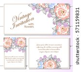 romantic invitation. wedding ... | Shutterstock .eps vector #571159831