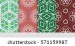 set of color floral  linear...   Shutterstock .eps vector #571159987