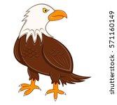 eagle cartoon vector... | Shutterstock .eps vector #571160149