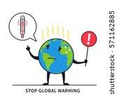 stop global warming vector... | Shutterstock .eps vector #571162885