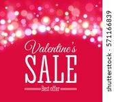 valentines day sale offer.... | Shutterstock .eps vector #571166839