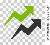 trends icon. vector... | Shutterstock .eps vector #571167154