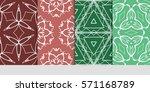 set of flower  geometric...   Shutterstock .eps vector #571168789