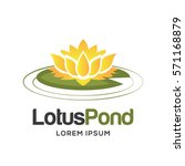 lotus logo | Shutterstock .eps vector #571168879