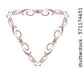 decorative vintage frame with... | Shutterstock .eps vector #571174651