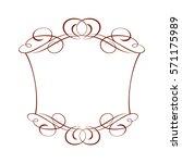 decorative frames. vintage... | Shutterstock .eps vector #571175989