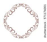 decorative frames .vintage... | Shutterstock .eps vector #571176001