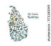 sri lanka surfind  design made... | Shutterstock .eps vector #571183345