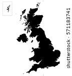 united kingdom uk great britain ... | Shutterstock . vector #571183741
