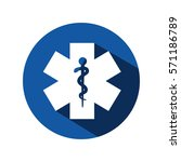 medical symbol isolated icon | Shutterstock .eps vector #571186789