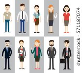 group business people design... | Shutterstock .eps vector #571187074