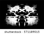 grunge black and white urban... | Shutterstock .eps vector #571189015