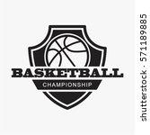 basketball championship logo... | Shutterstock .eps vector #571189885