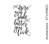 the more you smile the better... | Shutterstock .eps vector #571190821