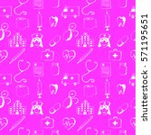 pink seamless pattern medical... | Shutterstock .eps vector #571195651