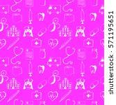 pink seamless pattern medical... | Shutterstock .eps vector #571195651