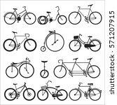 Hipster Bicycle Flat Vector...
