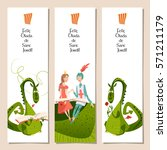 set of universal bookmarks with ... | Shutterstock .eps vector #571211179