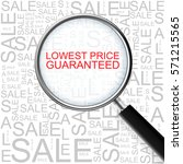 lowest price guaranteed.... | Shutterstock . vector #571215565