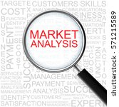 market analysis. magnifying... | Shutterstock . vector #571215589