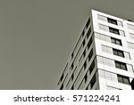 facade of a modern apartment... | Shutterstock . vector #571224241