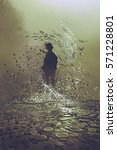 silhouette of man standing in... | Shutterstock . vector #571228801