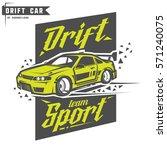 drift sport team print for t... | Shutterstock .eps vector #571240075