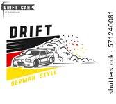 drift sport team print for t... | Shutterstock .eps vector #571240081