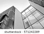 facade of a modern apartment... | Shutterstock . vector #571242289