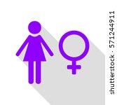 female sign illustration....