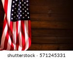 star striped flag of the usa on ... | Shutterstock . vector #571245331