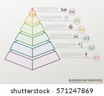 infographic pyramid with... | Shutterstock .eps vector #571247869