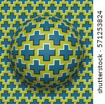 crosses patterned ball rolling... | Shutterstock . vector #571253824