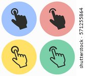 touch vector icons set. black... | Shutterstock .eps vector #571255864