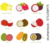 exotic fruit. vitamin for... | Shutterstock .eps vector #571258975