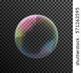 transparent colorful soap... | Shutterstock .eps vector #571263595