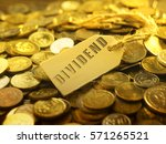 Small photo of financial or business concept ,coin with tag dividend