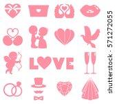 vector set of happy wedding and ... | Shutterstock .eps vector #571272055