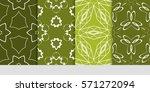 set of flower  geometric... | Shutterstock .eps vector #571272094