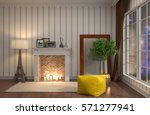 interior with chair. 3d... | Shutterstock . vector #571277941
