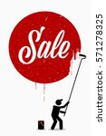 painter painting the word sale... | Shutterstock .eps vector #571278325