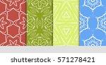set of linear geometric... | Shutterstock .eps vector #571278421