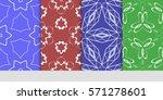 creative set of decorative...   Shutterstock .eps vector #571278601