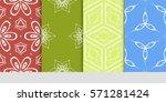 set of linear geometric...   Shutterstock .eps vector #571281424