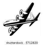 airplane taking off   Shutterstock . vector #5712820