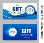 gift company voucher template... | Shutterstock .eps vector #571285837