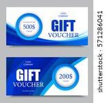 gift company voucher template... | Shutterstock .eps vector #571286041