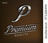 premium  quality retro vintage... | Shutterstock .eps vector #571286494