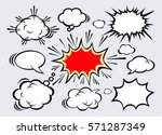 hand drawn of comic bubbles... | Shutterstock .eps vector #571287349