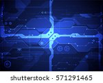 hi tech digital technology and... | Shutterstock .eps vector #571291465